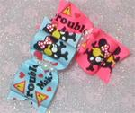 "7/8 X 1 1/2"" Trouble Maker Bow Choose 1"