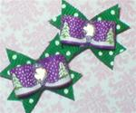 Maltese Pair  Christmas Purple
