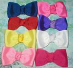 "1.5 x 3""  Grosgrain solid knotted Soft Bow Custom Colors +"