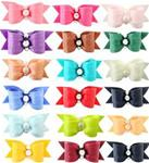 18 Pk Satin bows  7/8 single loop x-sm or xxx-sm