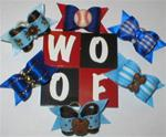6 PACK X-SM BOY PUPPY BOWS