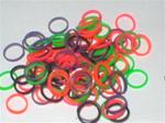 100 Multi Color Neon Bands 5/16