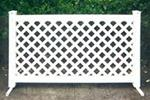 Fencing, White Vinyl Lattice Section