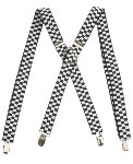 Suspenders - Checkered Black + White
