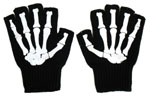 Fingerless Bones Gloves