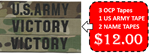 1 US ARMY and 2 OCP Name Tapes