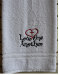 Love One Another Bath Towel