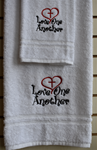 Love One Another Bath and Hand Towel
