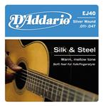 D'Addario 'Silk and Steel' Folk Acoustic Guitar Strings