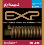 D'Addario EXP Coated Phosphor Bronze Acoustic Guitar Strings