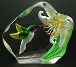 Molded Color Crystal - Hummingbird
