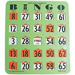 Easy Read Finger - Tip Bingo Card (Green) or (Blue)