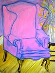 Pink Chair with Black Eyed Susan