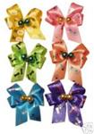 Large Satin Bows with Beads