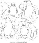 Animals, Penguin Set -  Automated Quilting Design RGS069