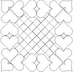 Heart ~ Two Half & To Hold Set - 17 Automated Quilting Designs - RGS045