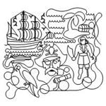 Pirate  Set - 9 Automated Quilting Designs - RGS044
