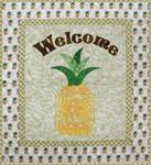 "RGR130 - Welcome Pineapple - 28"" x 25"" -Twin Size"