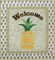 429130 - Welcome Pineapple - 28 in. x 25 in. -Twin Size