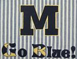 683P16 - M Go Blue - 7 in. x 13 in.