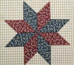 "RGR-P18 Le Moyne Star Applique - 6 1/2"" x 6 1/2"""