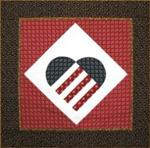 "RGR073 - Patriotic At Heart - 27"" square"