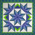"RGR085 - Striated Star Quilt - 84"" X 84"""