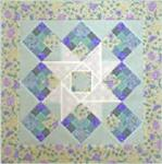 "RGR097 - Patchwork Star - 21 1/2"" square wall hanging or 21 1/2"" x 44 1/2"" table runner"