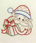 Color Work Santa Heads