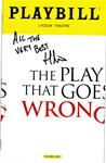 """Play That Goes Wrong, The"" - Signed Playbill"
