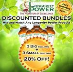 DISCOUNT BUNDLE: 3 BIG + 3 Small Jars (SAVE 20%) (Longevity in a Bottle, Mushroom Immunity, Epic Reishi and Glow He Shou Wu 100g SHIP BY June 29th)