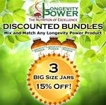 DISCOUNT BUNDLE: 3 BIG Jars (SAVE 15%) (Longevity in a Bottle SHIPS BY NOVEMBER 5th)