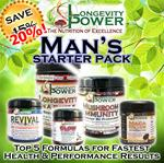 DISCOUNT BUNDLE: Man's Starter Pack (SAVE 20%, NORMALLY SAVE 15%) (Longevity in a Bottle and Mushroom Immunity SHIP BY June 29th)
