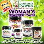DISCOUNT BUNDLE: Woman's Starter Pack (SAVE 20%, NORMALLY SAVE 15%) (Mushroom Immunity SHIPS BY June 29th)