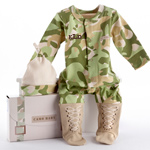 BABY ASPEN BIG DREAMZZZ BABY CAMO TWO PIECE LAYETTE