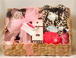DELUXE SPA GIFT BASKET-LOVELY LEOPARD