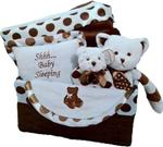 BEARINGTON BABY POSH DOTS BLUE GIFT BASKET MEDIUM