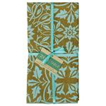 NAPKINS-CLASSICAL  OLIVE AQUA  SET OF 4