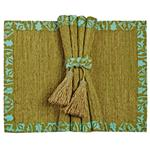 VETIVER PLACEMAT SET- CLASSICAL OLIVE AQUA SET OF FOUR