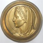 "Contaux (after Mengual): THE VIRGIN MARY. Studio cast (approximately7"" in diameter)"