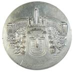 1937, France. INTERNATIONAL EXPOSITION. Unsigned. Uniface trail striking in white metal.