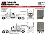 1/64 DCP KW w900l flattop white w matching triple axle pot