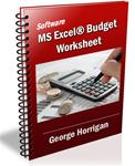 Software - MS Excel® Budget Worksheet