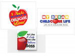 CHILDCARE BOSS WALL CANVAS PICTURES