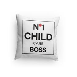Number One Childcare Boss Pillow
