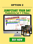 Jumpstart Your Day Productivity Set PLUS 3 VIDEOS Option 2