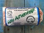 Organic Turkey Recipe for Dogs and Cats - 1lb Chub