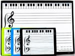 PKG:LG MAGNET DRY ERASE GRAND STAFF MUSIC BOARD + 3 SMALL STUDENT BOARDS