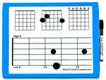 PKG:5 SMALL MAGNET DRY ERASE GUITAR STUDENT MUSIC BOARDS