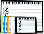PKG:LG MAGNET DRY ERASE GRAND STAFF MUSIC BOARD + 5 SMALL STUDENT BOARDS